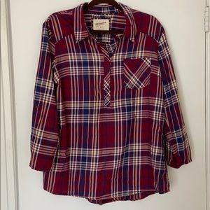 (3/$20) Arizona Half Button Flannel